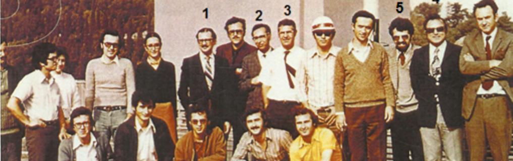 1. Rektör Aptullah Kuran, 2. Rektör Yrd. Hikmet Sebüktekin, 3. Dekan Vedat Yerlici, 4. Semih S. Tezcan, 5. Turan H. Durgunoğlu